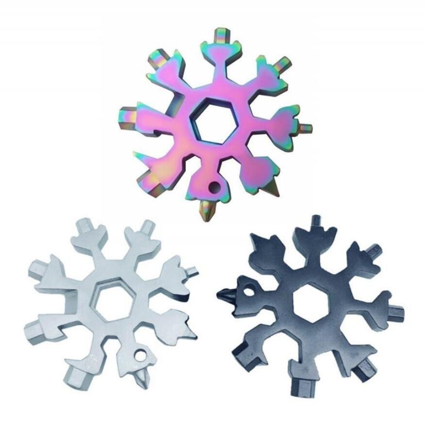 18-in-1 Kar Tanesi Çok Aracı Paslanmaz Çelik Multitool Kart Kombinasyonu Kompakt Taşınabilir Açık Ürünler 18 1 Kar Tanesi Takım Kartında