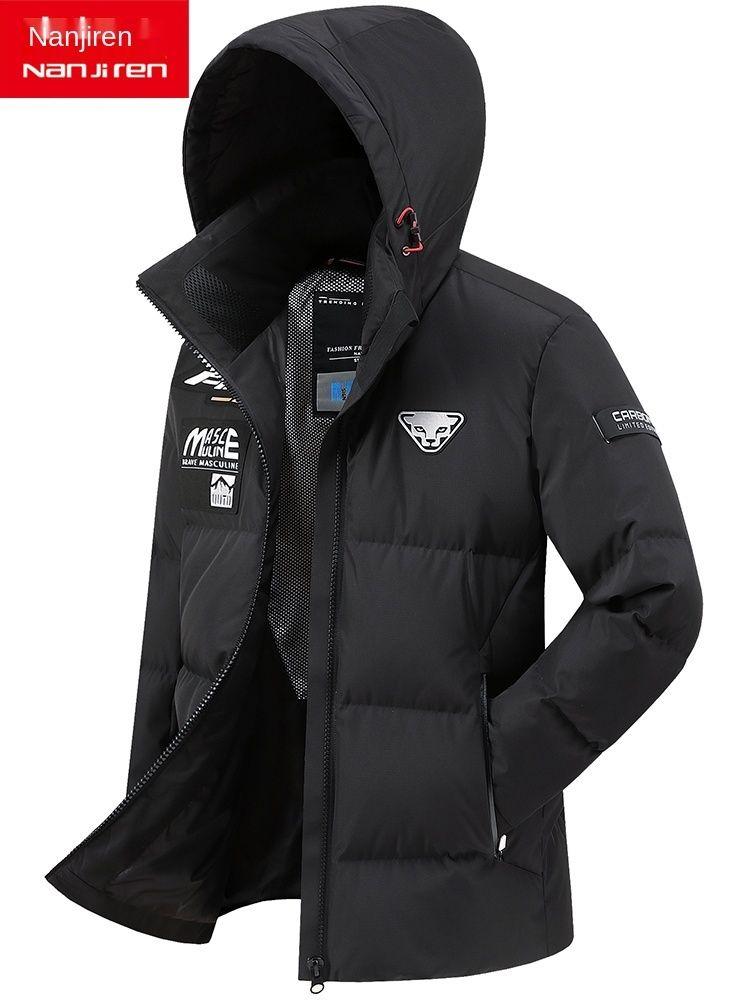 Куртка мужская с капюшоном с капюшоном 2020 новый популярный утолщенный теплый бизнес повседневное пальто