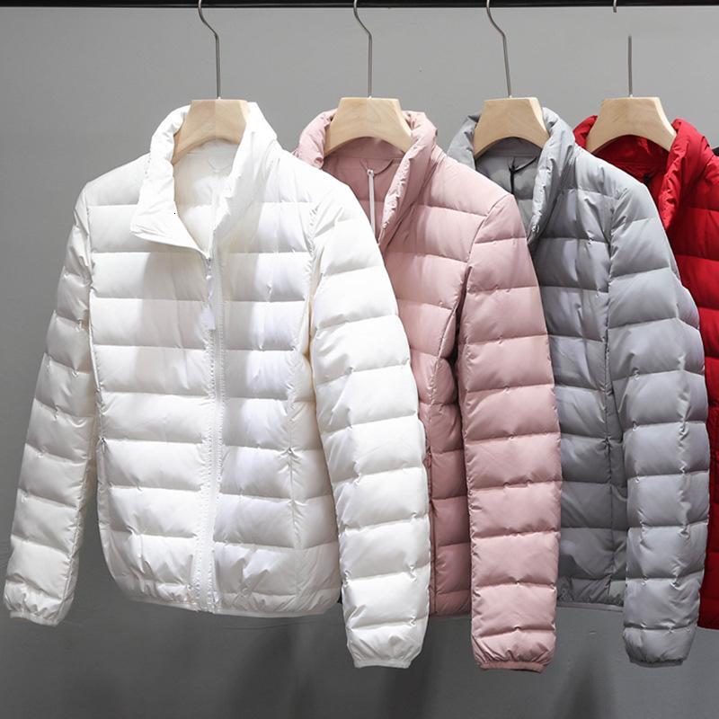 Vestes sans soudure d'hiver pour femmes chaudes de canard blanc plumes de plumes de plumes de plumes femelles légères portables