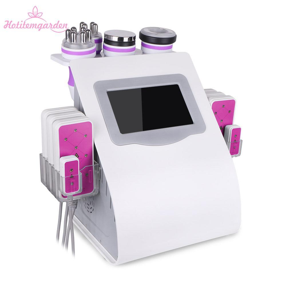 6 في 1 التجويف غير المريض RF فراغ الجلد تشديد الموجات فوق الصوتية التجويف 5 ميجا واط آلة التخسيس الليزر للبيع