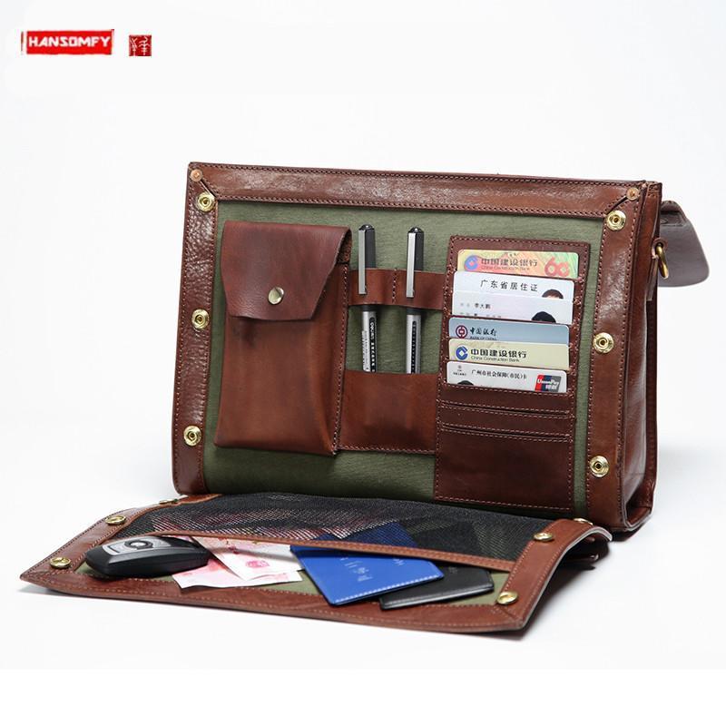 Bolso de hombre de negocios Bolso masivo Massenger Chico de cuero con estilo / Bolsa de cruz Bolsa Casual Maletín