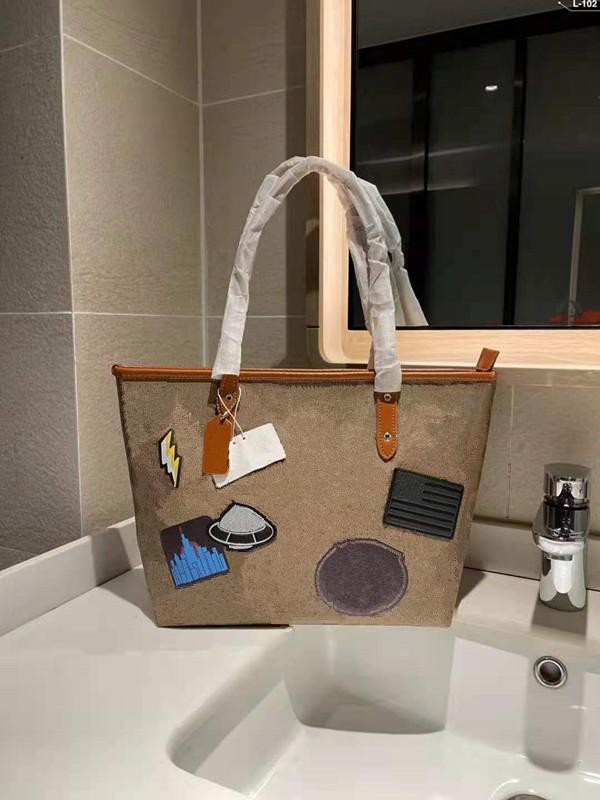 Livro de cor clássico sacos designer bolsas bordadas sacos de grande capacidade de viagem de lona de lona sacola saco de senhoras bolsas de compras