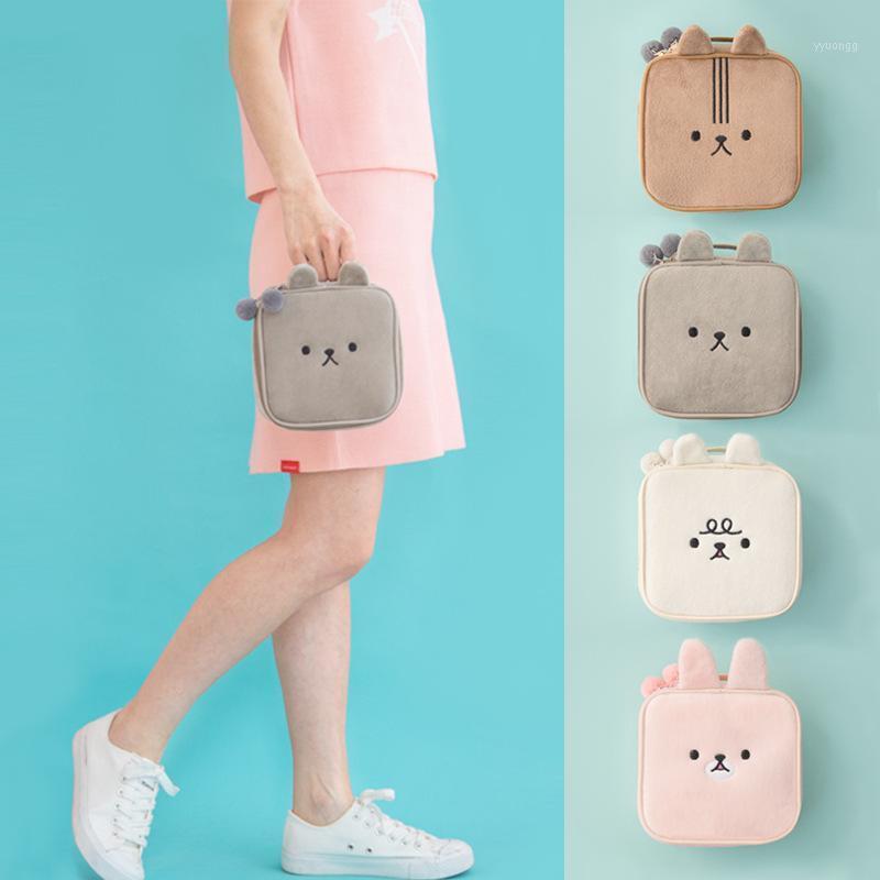 Косметические сумки Case Bag Square плюшевые милые животные вышивка большой емкости квадратный1