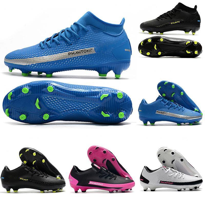 2020 Phantom GT FG Futbol Ayakkabıları Daybreak Pack Elite Düşük Akademi Dinamik Siyah Pembe Blast Royal Mavi Futbol Cleats Mens Scarpe Calcio