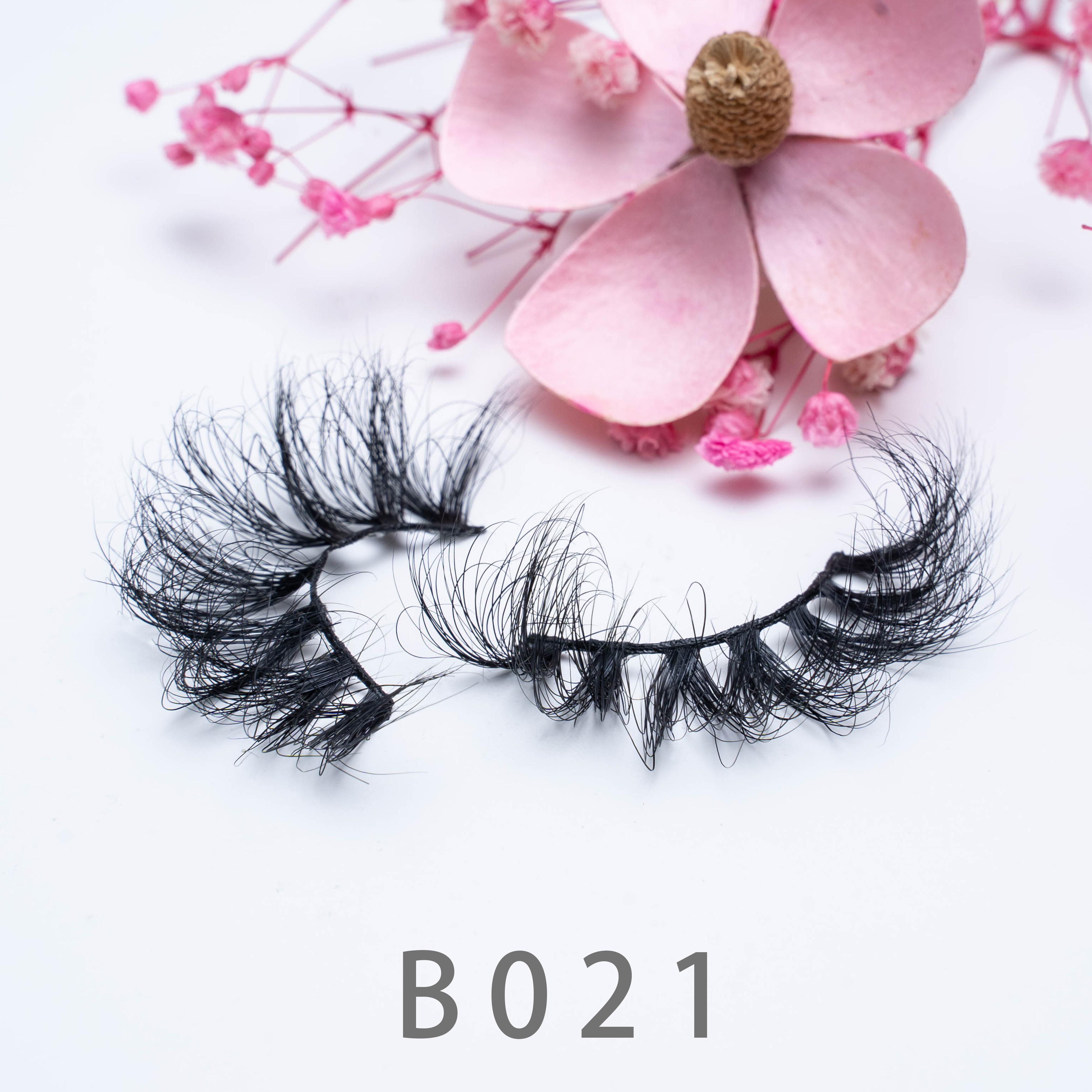 [Mink falsche Wimpern-B21] Nerz Wimpern 3D-Wimpern 3d Eye Makeup Mink falsche Wimpern weiche natürliche dicke 20mm gefälschte Wimpern