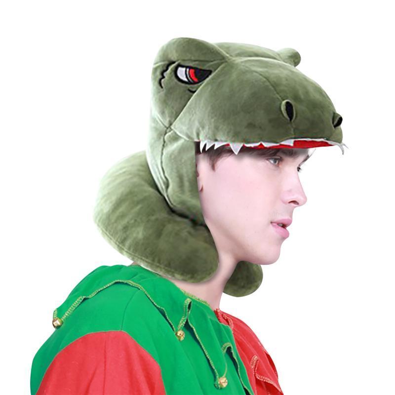 Dinosaurier-Form Caps Adult Funny Animal Netter Cap-Ansatz-Kissen U-Kissen-Karikatur-Hut-Kleid-Partei-Zeit casquette homme marque