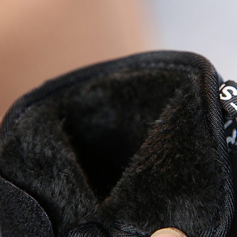 Yumuşak Çocuklar Boots Kış yeni tendon çocuk alt kar ılık pamuk artı kadife kalın bebek yürümeye başlayan ayakkabıları