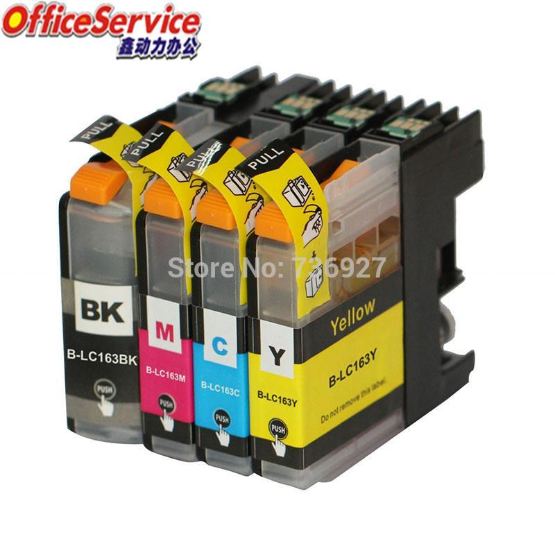 Cartucho de tinta compatível LC161 LC163 para Irmão -J152W -J552DW -J752DW MFC-J245 MFC-470DW MFC-650DW J870DW Impressora