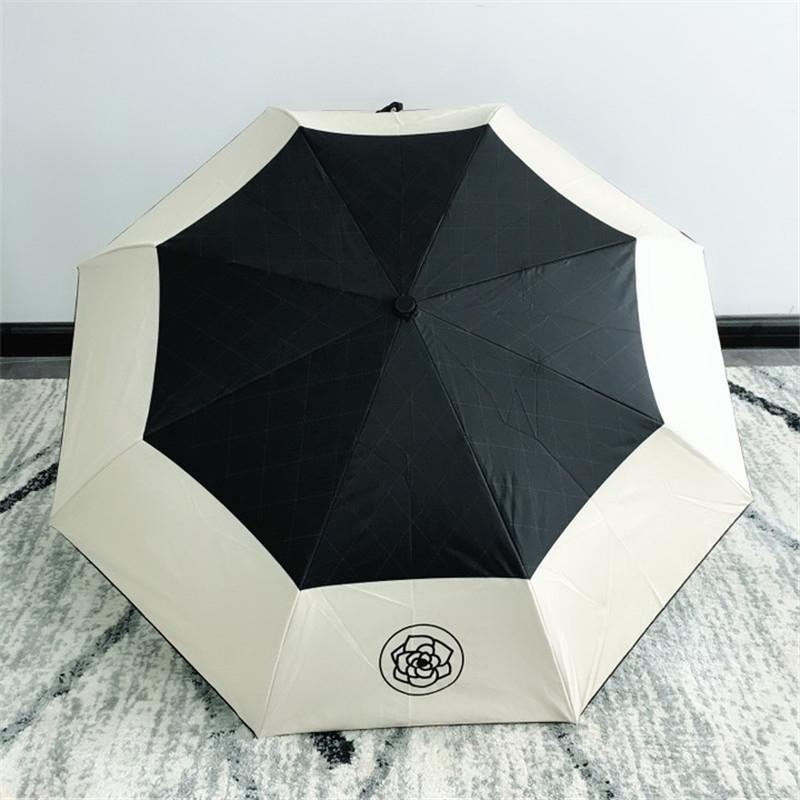 Brands di lusso resistenti al vento pieghevole ombrello da pioggia donne pioggia antivento ombrelloni pioggia per uomo rivestimento nero parasole 201123