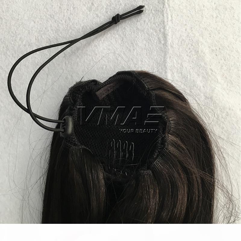 """Clipe em linha reta em cordão de rabo de cavalo humano 16 """"120g brasileiro de rabo de cavalo natural cor # 6 # 12 # 613 cabelo humano virgem cabelo vmee"""