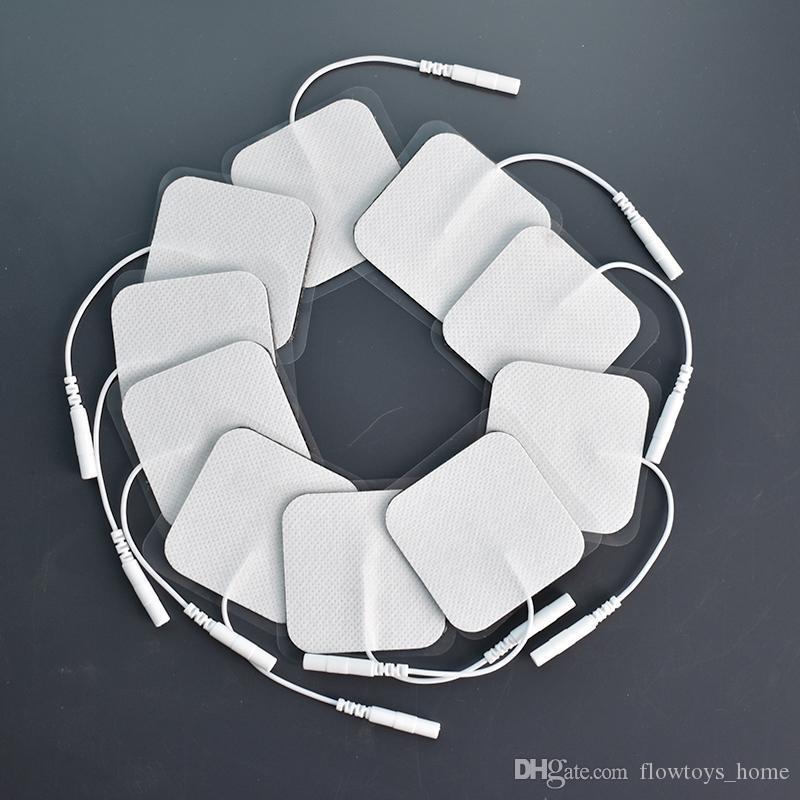 5x5cm جودة عالية الأعصاب محفز هلام السيليكون وسادات القطب الكهربائي عشرات رقمي العلاج أقطاب آلة تدليك 2mm في التوصيل