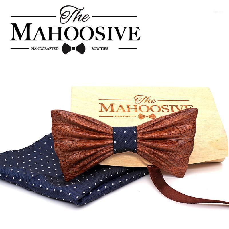Mahooosive جديد 2020 اليدوية خشبية القوس التعادل منديل مجموعة الأزياء الخشب القوس التعادل الزفاف عشاء اكسسوارات corbata gravata set1