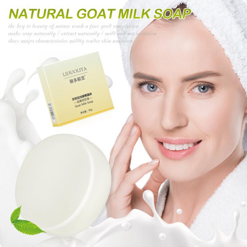 الحليب اليدوية الصابون إزالة الماعز حب الشباب البثرة السلس الجلد تشديد المسامات العميقة تنظيف ترطيب تبييض الصابون