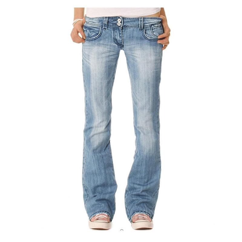 Jeans femininos de alta qualidade 2020 new cintura média moda casual slim outono sexy senhoras calças ny calças denim flare feminino