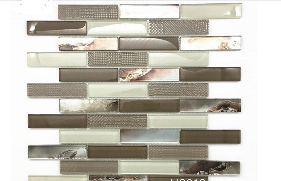 2021 hot sale European style waterproof mosaic factory direct Bar Hotel background wall decorative strip mosaic