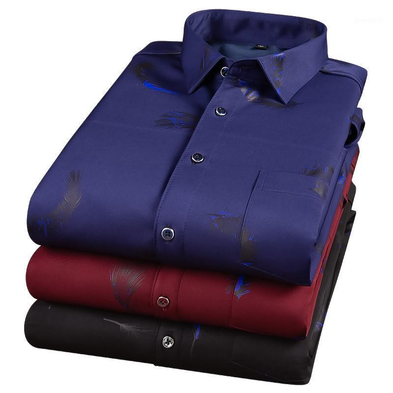 Мужская мода напечатанная теплая рубашка зима мужская плюс бархатная толстая стрижка стройная большая размер рубашки высокого качества