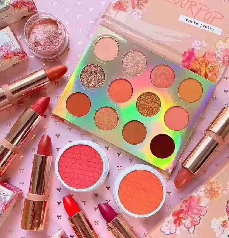 ColourP0P Сладкий Обсуждение 12 цветов Матовый Shimmer Eyeshadow Powder Makeup Palette Eye Shadow Палитры де макияж