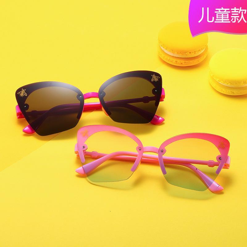 2020 pequena personalidade de abelha e borboleta moda colorida versátil óculos de sol legal meninos para meninas xcfnn