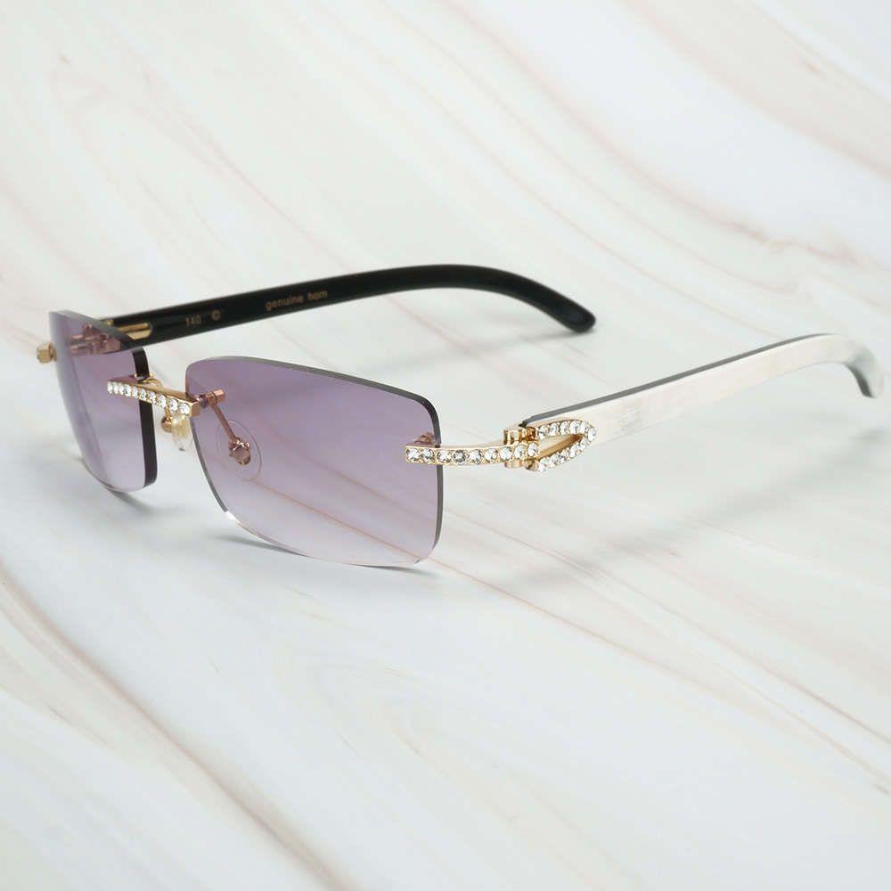 Ienbel Luxo Branco Mistura Preta Búfalo Chifre Homens Mulheres Sunglasses Marca Designer Carter Eyewear para Pesca Festival Rave