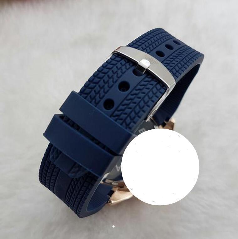 Büyük erkekler 45 mm askeri spor stil 2019 lüks moda tasarımcısı siyah kadran benzersiz silikon büyük erkek saati saatler