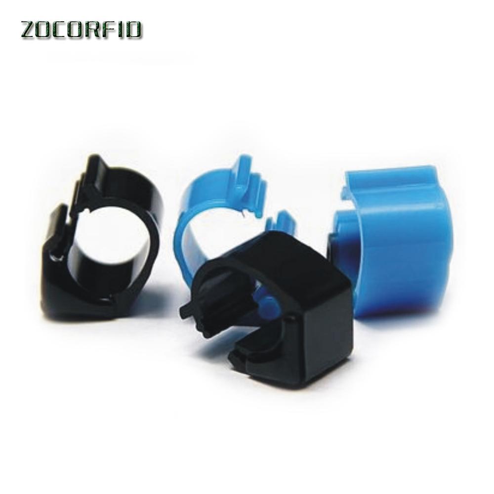 50pcs / lot 125-134.2KHZ ISO11785 / 84 RFID elettronico pollo / anatra piedi RFID Tag Anello per il monitoraggio