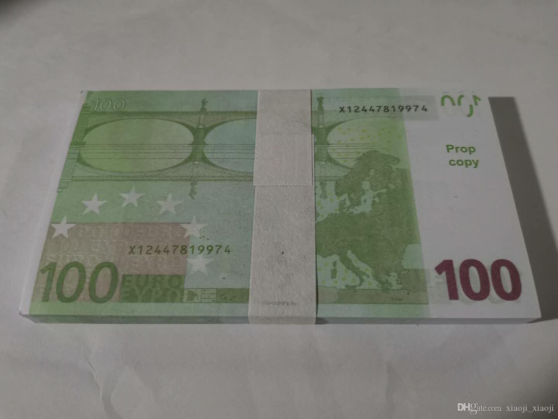 Вечеринка Бар атмосфера 100euro Banknotes 15 Prop Toy Money Height Holiday Rep Prup представляет детей трюк оптом сюрприз украшения Duvln
