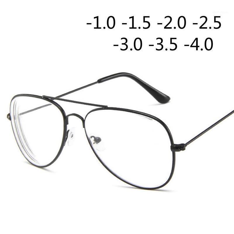 Vetri di spettacoli occhiali della cornice della miopia del telaio della cornice del gatto del metallo per le donne e gli uomini -1.0 -1.5 -2.0 -2.5 -3.0 -3.5 -4.01