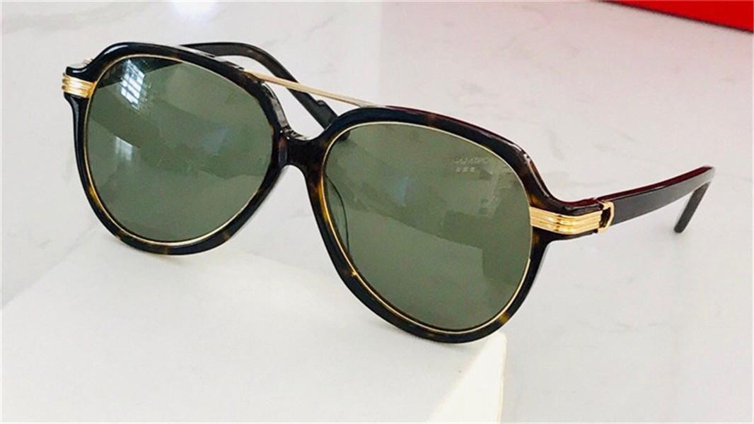 New Fashion Design Sunglasses 0159 Piastra Telaio pilota con anello di metallo retrò Avanguardia stile di moda superiore di alta qualità all'ingrosso per le donne