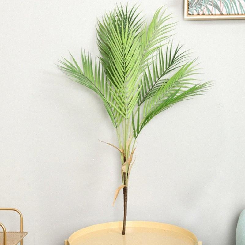 Künstliche Palme Zweige wilder faux Laub Palmblätter Pflanzen für Haus Wohnzimmer Hochzeitsdekoration Dschungelparty Dekor KXMs #