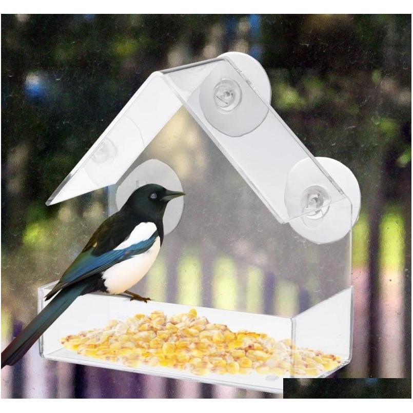 جديد الاكريليك واضح البيت نافذة الطيور الطيور الطيور birdhouse bi qylctw new_dhbest