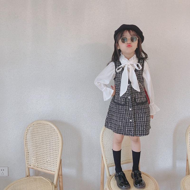 2021 Nuevo vestido de encaje de estilo casual de primavera Vestidos para niños para niñas de manga larga para manga para niños de primavera Vestido de Línea de Línea de encaje de niña
