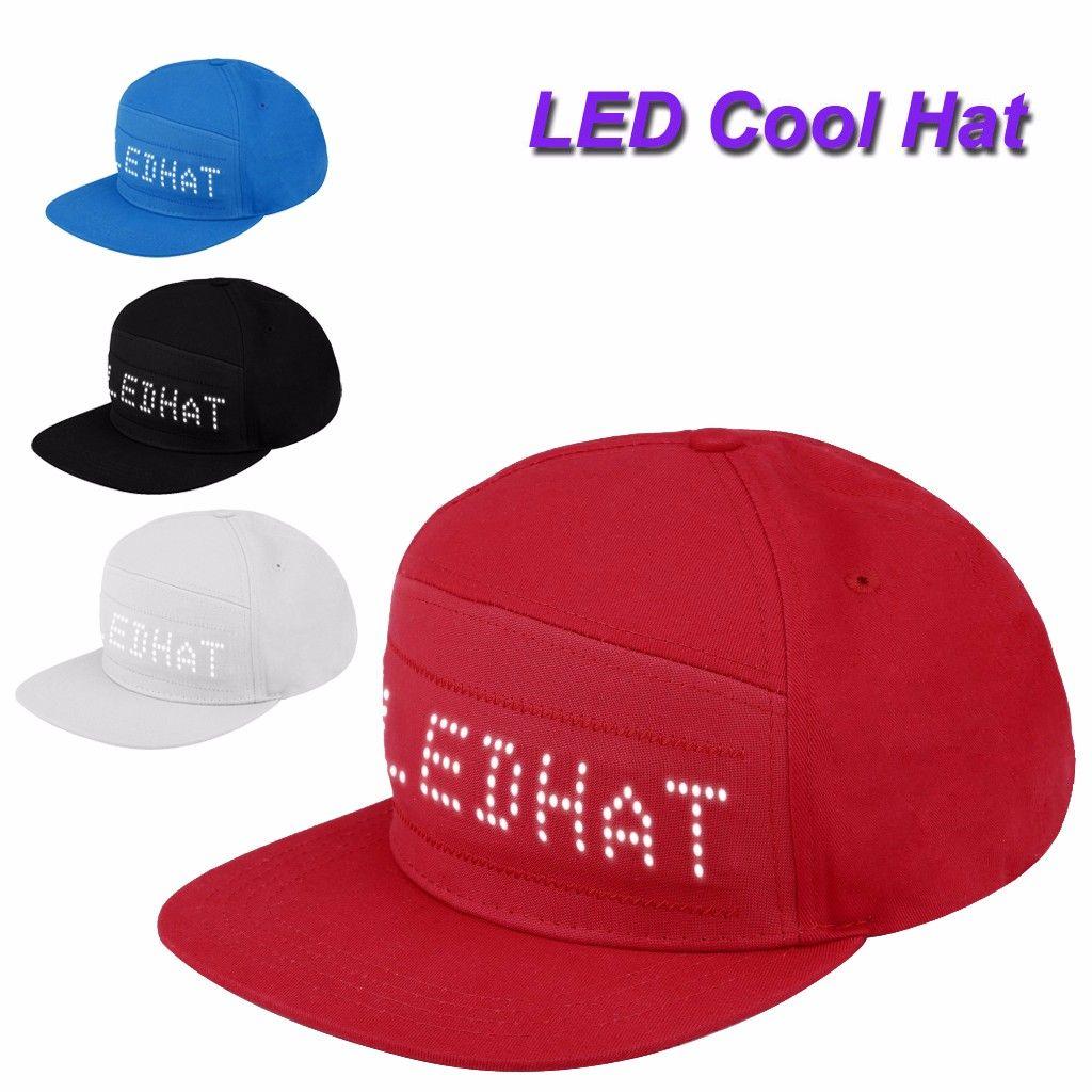 Bluetooth Hareketli Led Mesaj Şapka Hiphop Şapkalar Moda Erkekler Ayarlanabilir Caps Running Cap Snapback Baseball yap Soğuk # YL5