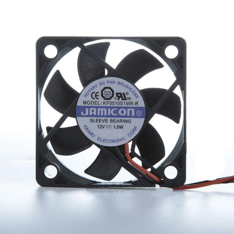 Jamicon KF0510S1MR-R DC 12V 1.0W 50x50x10mm 2-Wire 서버 냉각 팬