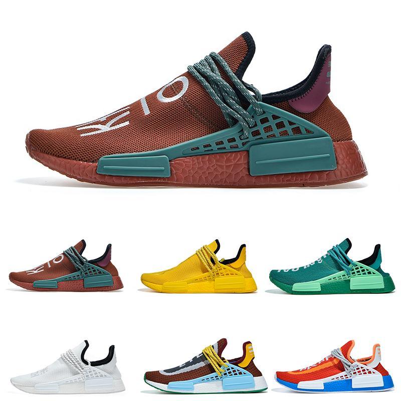 Nmd Human Race colette Nerd Yürüyüşü Runner Yeni Koşu Ayakkabısı Erkekler Kadınlar Pharrell Williams HU Choclate Ekstra Göz Primeknit Spor Sneaker 36-47