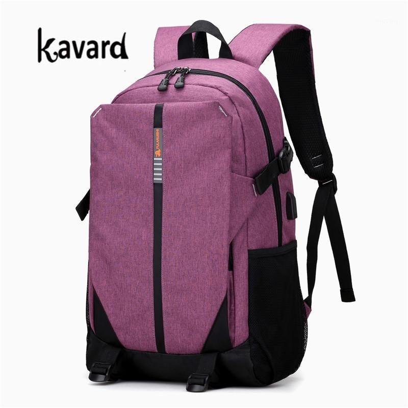Yeni Yüksek Kalite Kadın Erkek USB Şarj Tuval Sırt Seyahat Güvenlik Rahat Okul Çantası Koleji Genç 15 inç Laptop Backpack1