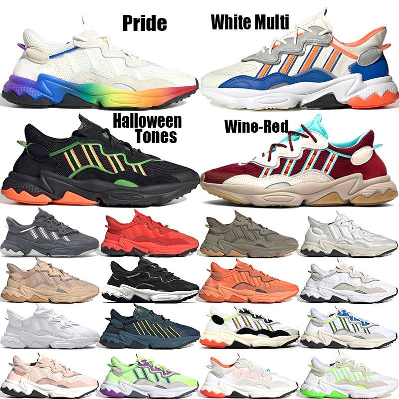 Orgulho Laranja orgulho Negrito Xeno Neon instrutor Sports Sneakers Verde Solar Halloween tons amarelos Núcleo Preto Ozweego For Men Women Running Shoes