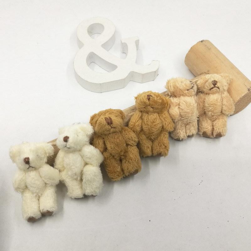 30 stücke Mini Plüsch Teddybär 4,5 cm Flexible Bär Party Toys Taschen Geschenk Bär Hochzeit Gunst Baby Shower Kinder Spielzeug 201027