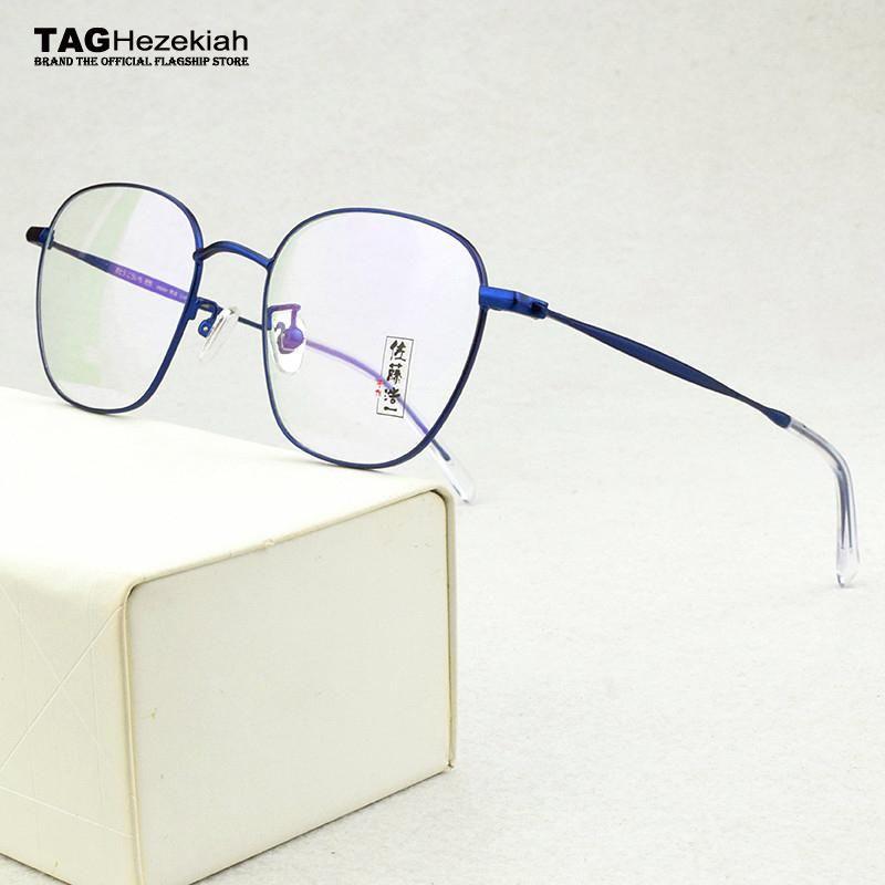 2020 place de la mode des lunettes femmes cadre lunettes en alliage vintage cadres pour la myopie hommes montures de lunettes de célébrité web informatique