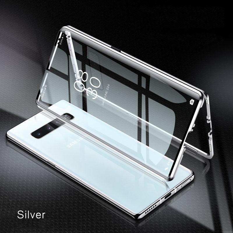 Magnetisches Glaskasten für Samsung S20 FE S10 E S9 S8 Anmerkung 20 10 9 8 Plus Ultra Lite A70 M51 M21 COQUE-Abdeckung