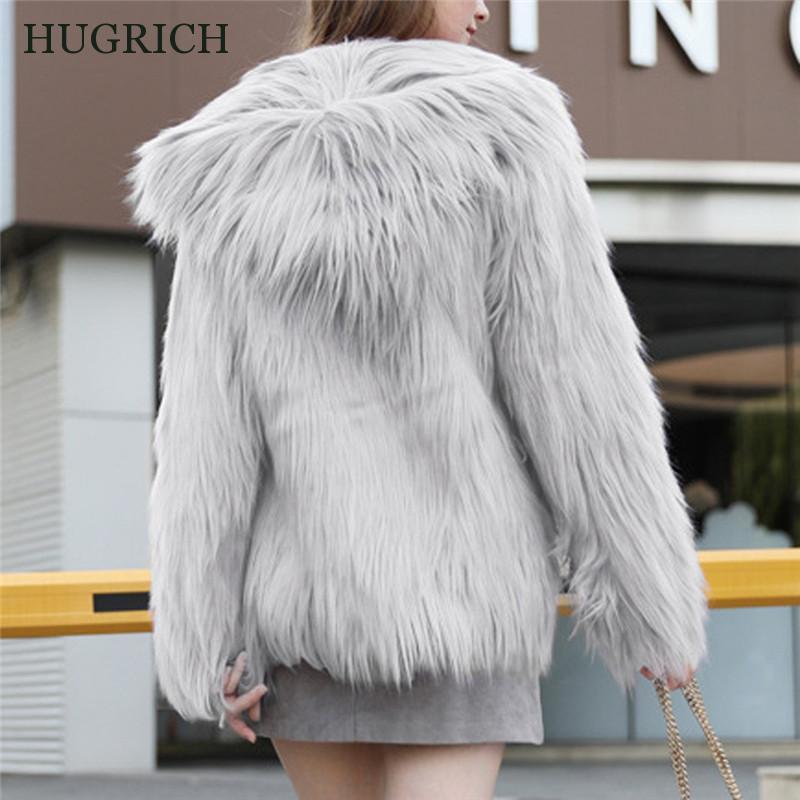 Kadın Kürk Faux 2021 Kapüşonlu Ceket Peluş Sıcak Uzun Kollu Sonbahar ve Kış Moda
