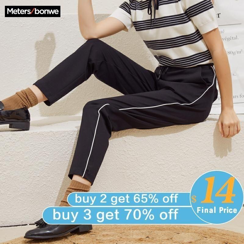 Морсбоновые в середине талии спортивные брюки женские свободные весенние новые спортивные брюки на стриже