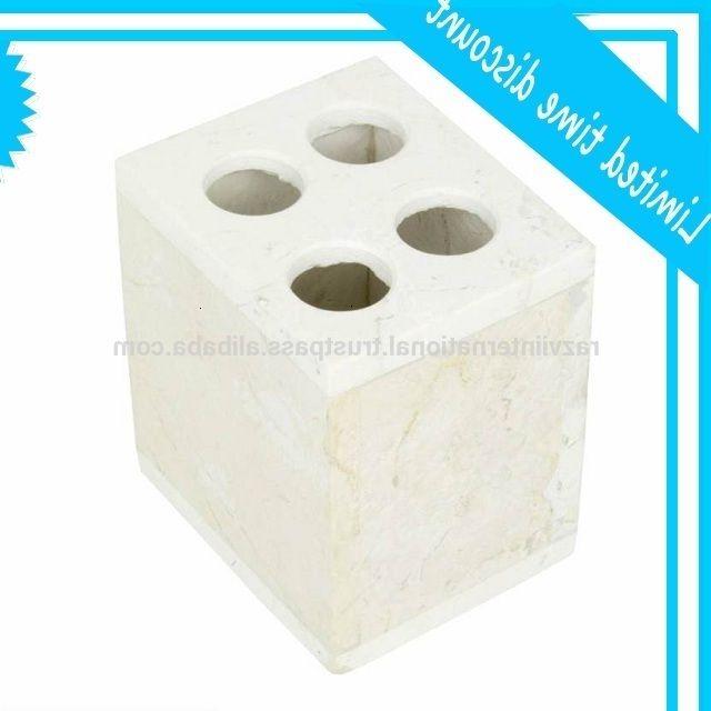 White marble tooth brush holder