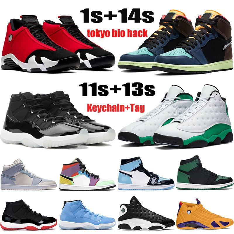 جديد jumpman أحذية كرة السلة 1 1 ثانية طوكيو بيو هاك 11 11 ثانية الذكرى 25th bred 13 13s محظوظ الأخضر 14 14 ثانية الرجال النساء أحذية رياضية