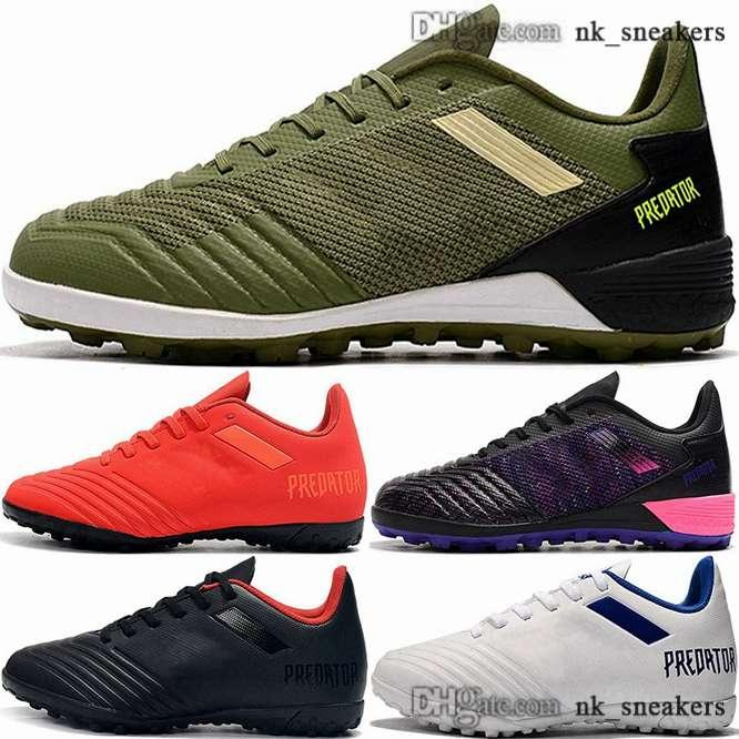 38 46 mens football boots IN men zapatillas futsal crampons de soccer cleats classic TF Predator 19 shoes chaussures size us eur 12 women