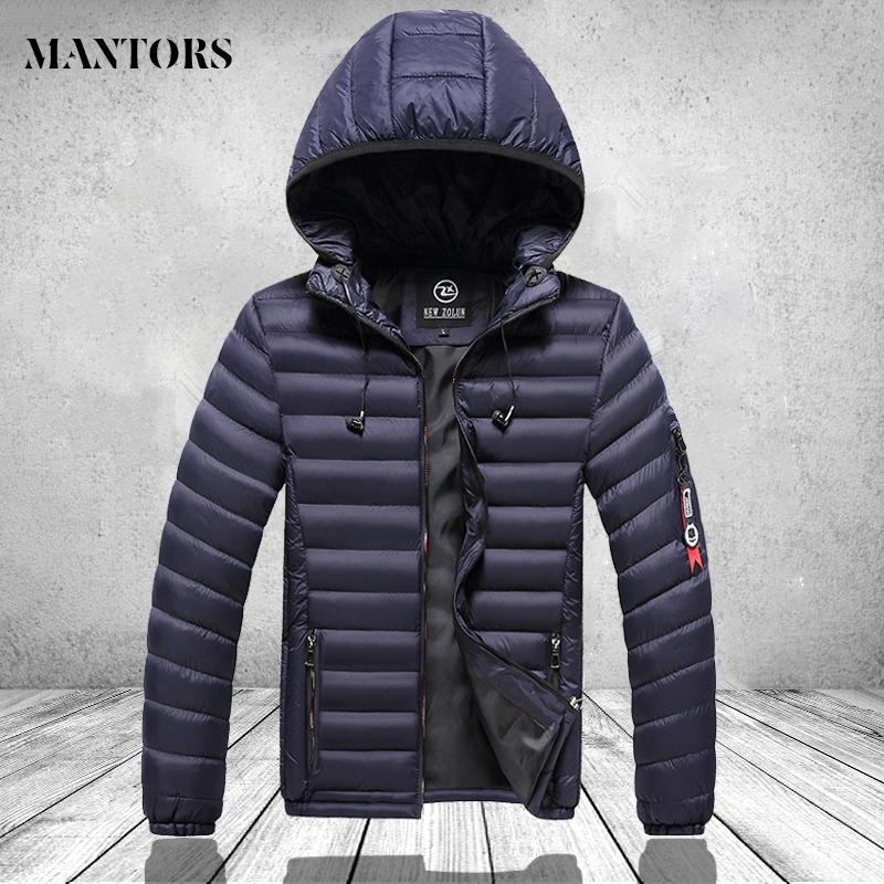 Autumn novel men's casual color uniform coat sweater fashion hat brand hot winter duck down wearing oversized top spring coat