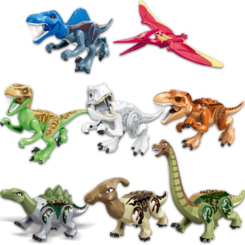 Bloques de dinosaurios juguete al por mayor brutal raptor ejército edificio bloques mini ladrillos dinosaurios juguetes para niños niños