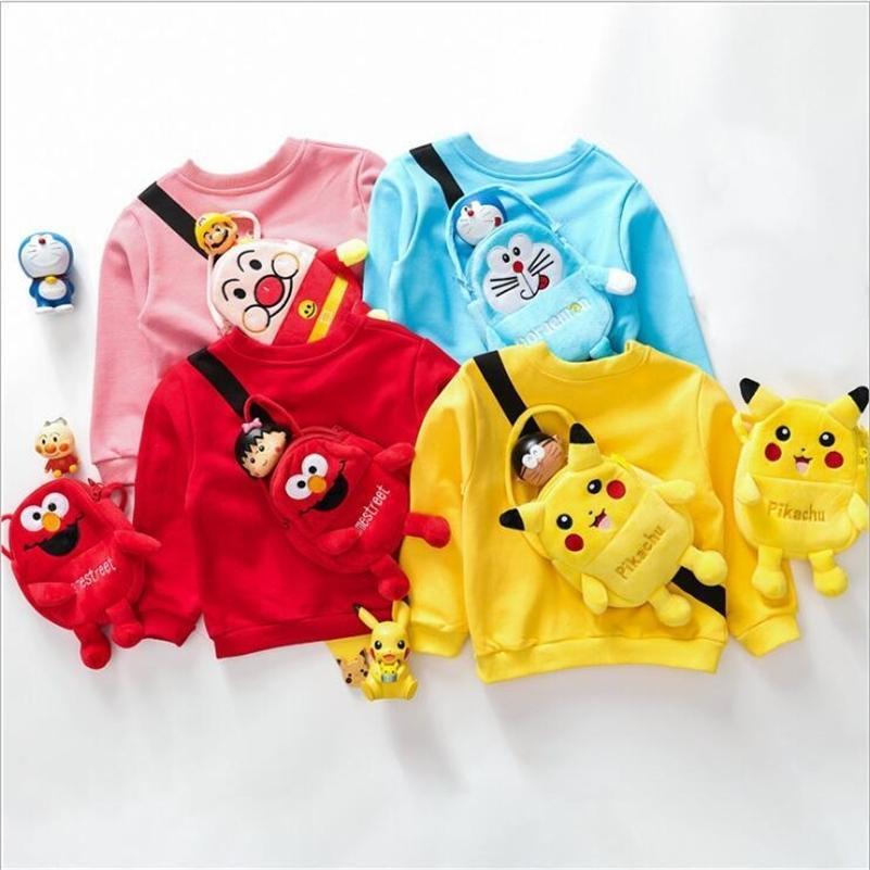 Le dernier automne et hiver New Children's Dessin animé Sac à dos Sanitaire Veste Baby Jacket Vêtements enfants LJ201127