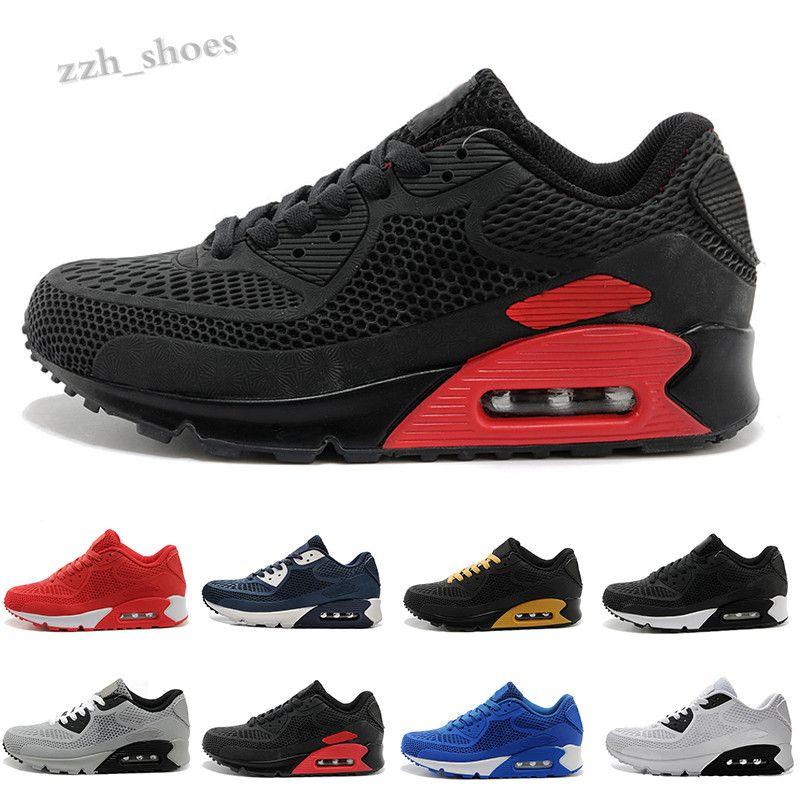 NIKE AIR MAX 90 KPU 2019 Yastık Yeni Erkek Ayakkabı En Kaliteli Ucuz Chaussures Kadınlar Siyah 90 KPU Beyaz Kırmızı Sneakers Klasik Spor Ayakkabı PR07