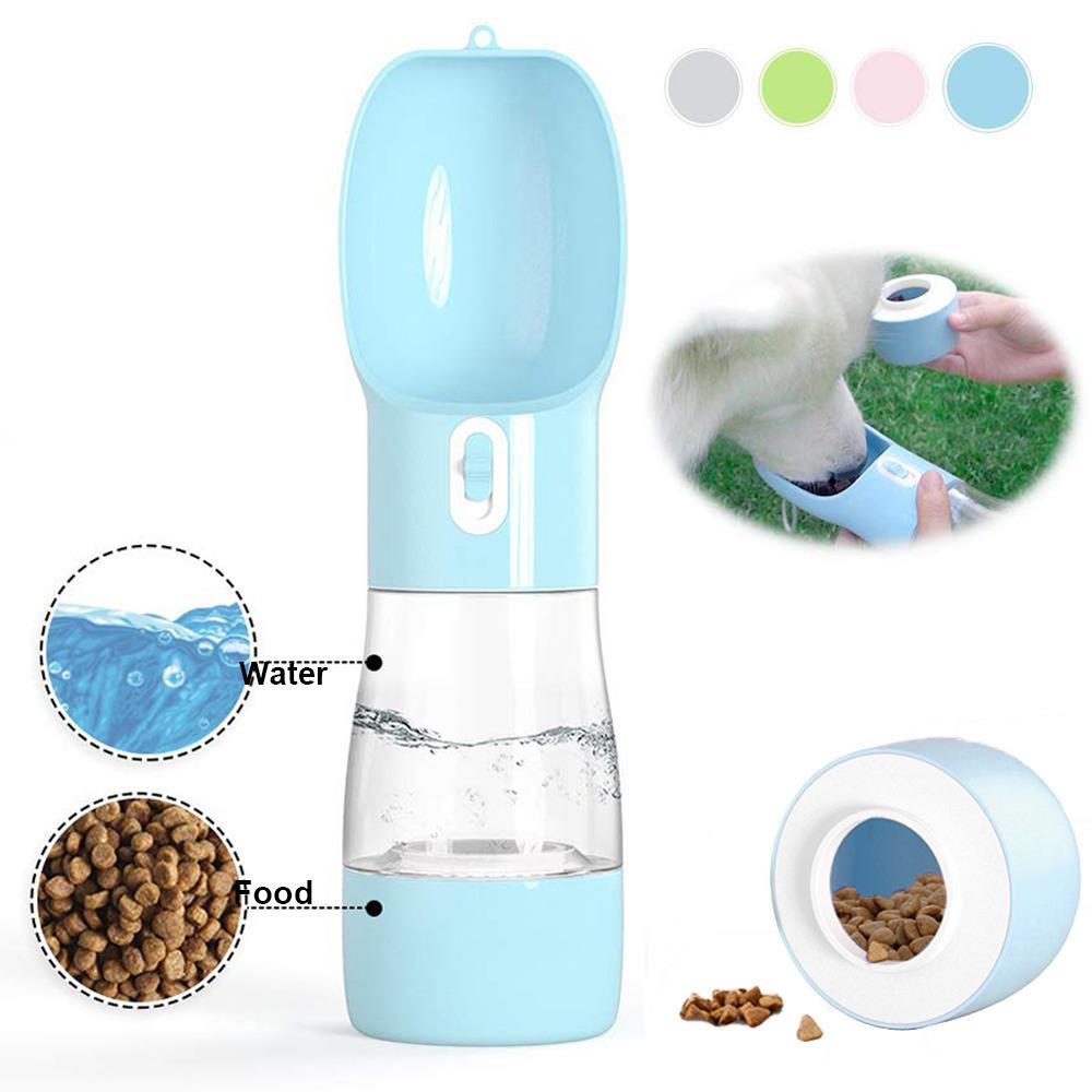 Pet Feeder Water Bottle for Dog Accessories Water Bottle Dog Feeder Pets Travel Drinking Portable Dog Water Bottle for Dogs Y200917