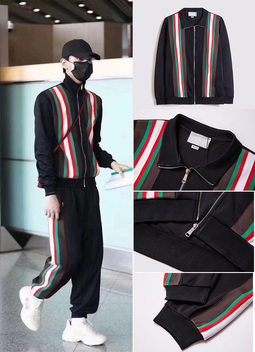 Nuevo estilo Traje para hombre Casual moda popular chaqueta de alta calidad y pantalones deportivos, otoño invierno cálido 2 piezas hombres diseñadores de chándalsuits